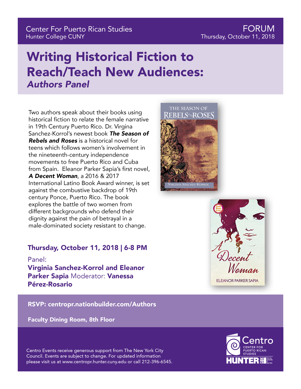 Read more about Writing Historical Fiction to Reach/Teach New Audiences: Puerto Rican Authors Panel